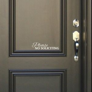 NWT No Soliciting Vinyl Decal